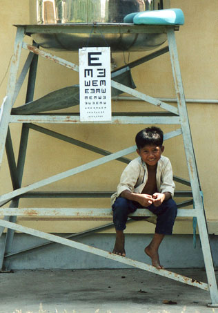 Sehtest in Kambodscha