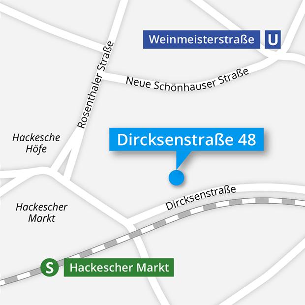 Lageplan Brillenwerkstatt Dircksenstraße 48