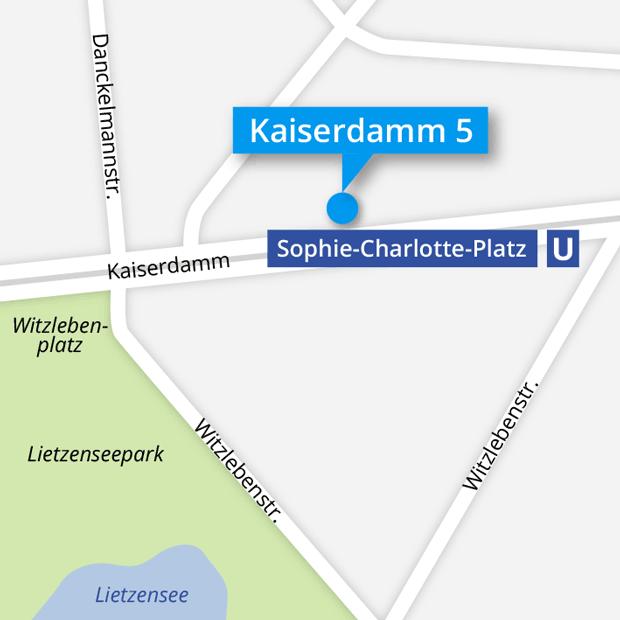 Lageplan Brillenwerkstatt Kaiserdamm 5